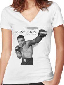 Sonny Liston Women's Fitted V-Neck T-Shirt
