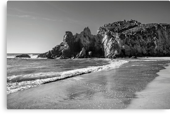 Pfeiffer Beach (Monochrome) by James Watkins