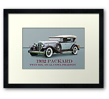 1932 Packard Twin Six Dual Cowl Phaeton w/ ID Framed Print
