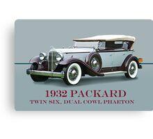 1932 Packard Twin Six Dual Cowl Phaeton w/ ID Canvas Print