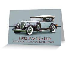 1932 Packard Twin Six Dual Cowl Phaeton w/ ID Greeting Card
