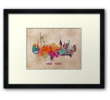 New York City skyline 2 Framed Print