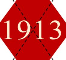 Abstraq Inc: 1913 Argyle (crimson) Sticker