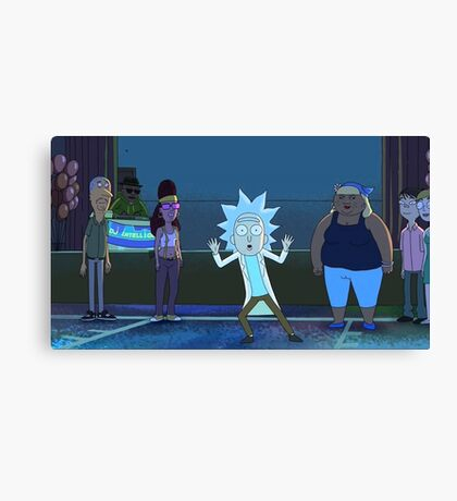 Tiny Rick Canvas Print
