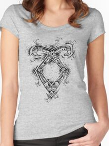 Graceful Angelic Rune Women's Fitted Scoop T-Shirt