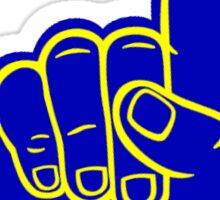 Michigan foam finger Sticker