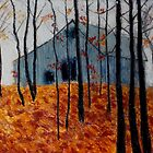 Autumn Barn by Kent  Whitaker