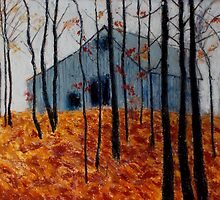 Autumn Barn by Kent  Whitaker