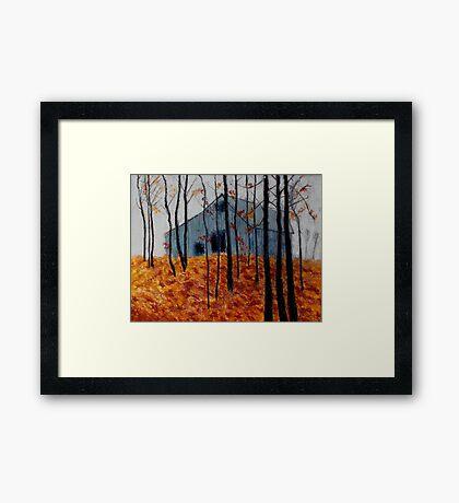 Autumn Barn Framed Print