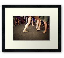 Foot fight Framed Print