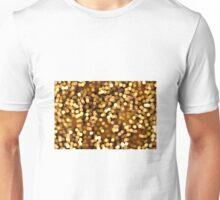 golden rain of lights bokeh twinkle Unisex T-Shirt