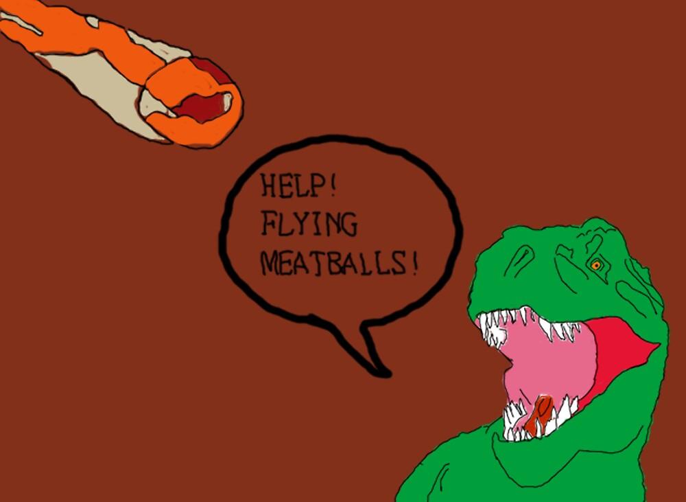 Prehistoric Flying Meatballs by HazzPott