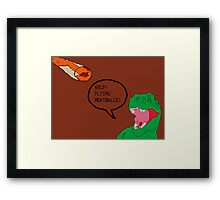 Prehistoric Flying Meatballs Framed Print