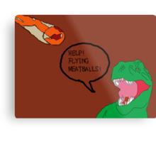 Prehistoric Flying Meatballs Metal Print