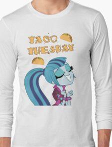 Sonata Dusk - Taco Tuesday - MLP FiM - Brony Long Sleeve T-Shirt