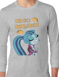 Sonata Dusk - Taco Tuesday - MLP FiM - Brony Long Sleeve T-Shirt