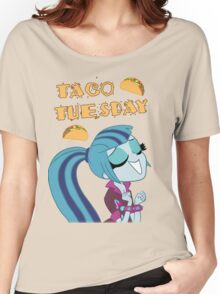 Sonata Dusk - Taco Tuesday - MLP FiM - Brony Women's Relaxed Fit T-Shirt