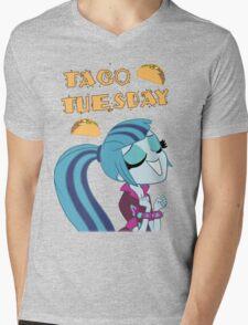 Sonata Dusk - Taco Tuesday - MLP FiM - Brony Mens V-Neck T-Shirt