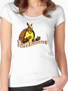 Friends: Holiday Armadillo Women's Fitted Scoop T-Shirt