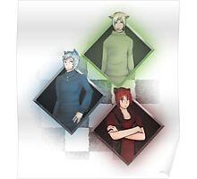 Diamond Cheshire Cats Poster