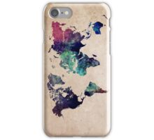 World Map cold World iPhone Case/Skin