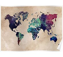 World Map cold World Poster