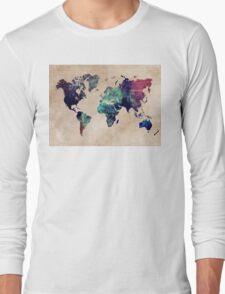World Map cold World Long Sleeve T-Shirt