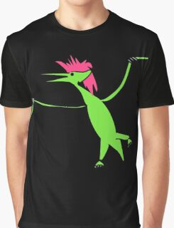Pterodactyl With Mullet Spirit Animal Graphic T-Shirt