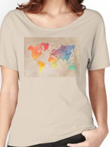 World Map maps Women's Relaxed Fit T-Shirt