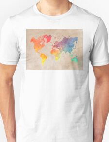 World Map maps Unisex T-Shirt