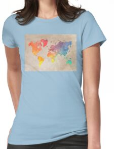 World Map maps Womens Fitted T-Shirt