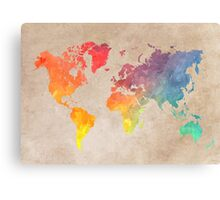 World Map maps Canvas Print