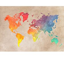 World Map maps Photographic Print