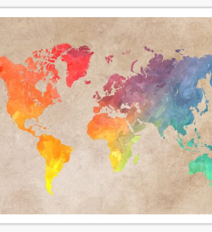 World Map maps Sticker
