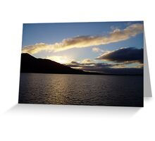 Sunset over bronze sea Greeting Card