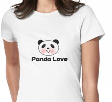 Panda loves you Valentines day tee  Womens Fitted T-Shirt