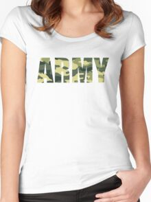 Army T Shirt Women's Fitted Scoop T-Shirt