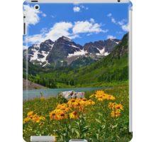 Maroon Bells with Wildflowers iPad Case/Skin