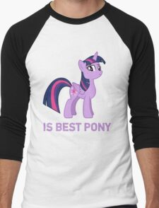 Twilight Sparkle Is Best Pony - MLP FiM - Brony Men's Baseball ¾ T-Shirt