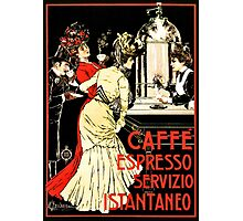 Vintage antique Italian coffeehouse advertising Photographic Print