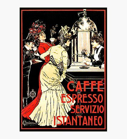 Vintage antique Italian coffeehouse advertising Photographic Print