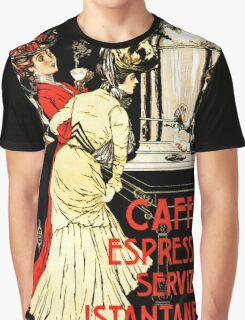 Vintage antique Italian coffeehouse advertising Graphic T-Shirt