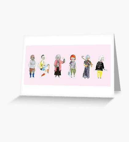 Punk Grannies Greeting Card
