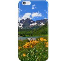 Maroon Bells with Wildflowers iPhone Case/Skin