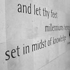Tennyson Quote on the floor of The Great Court British Museum UK by Mark P Hennessy