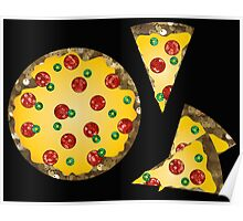 sequin pizza Poster