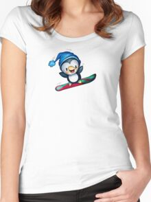 Too Cool To Penguin Women's Fitted Scoop T-Shirt