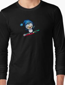 Too Cool To Penguin Long Sleeve T-Shirt