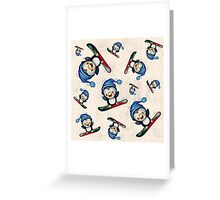 Too Cool To Penguin Greeting Card