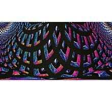 archgrid in purple Photographic Print